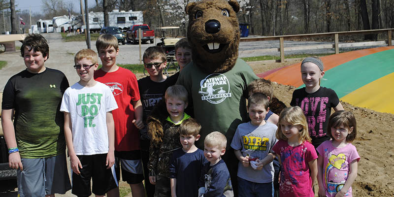 join timber and friends at gateway park campground in mi