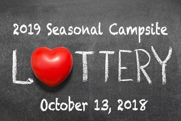 2019 Seasonal Campsite Lottery at Gateway Park Campground in Hillsdale MI on October 13 2018
